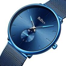 лучшая цена Mens Watches Top Brand Luxury Quartz Ultra Thin Minimalist Wristwatch Men Fashion Casual Mesh Steel Clock Male Relogio Masculino