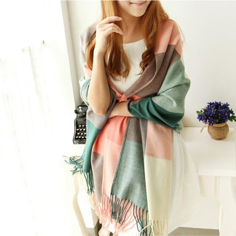 Scarf Women Winter Cachecol Women European And American Style! 2019 Winter Light Fringe Szalik Długi szal Tassel Cashmere Cg