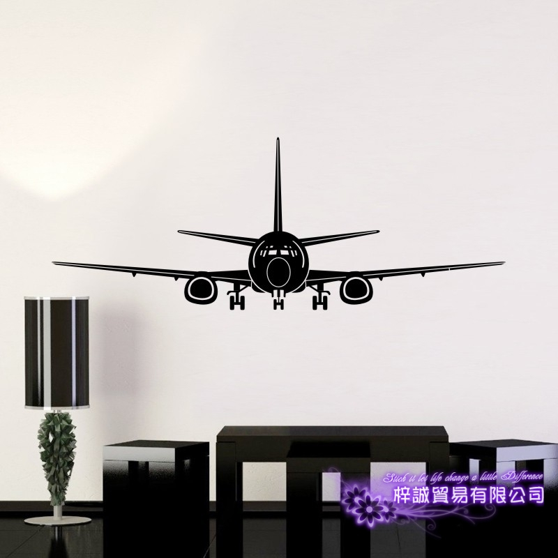 Airplane Sticker Vehicle Decal Classic Aircraft Posters Vinyl Wall Decals Aeroplane Parede Decor Mural Airplane Sticker image