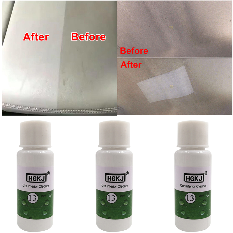 HGKJ-13-20ml Car Interior Cleaner Auto Leather Cleaner Dressing Cleaner For Fabric Plastic Vinyl Leather Surfaces Car Accessory