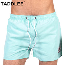 Taddlee Brand Sexy Men's Boardshorts Beach Boxer Trunks Swimwear Short Solid