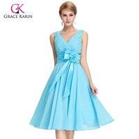 Real Evening Dresses Plus Size Grace Karin Sashes Elegant 2016 New Arrival Backless Women Short Formal