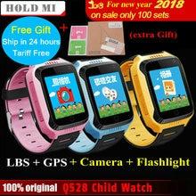 2017 New Hold Mi Q528 Y21 Touch Screen Kids GPS Watch with Camera Lighting Smart Watch Sleep Monitor GPS SOS Baby Watch PK Q60