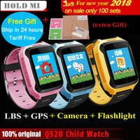 2017 New Q528 Y21 Touch Screen Kids GPS Watch With Camera Lighting Smart Watch Sleep Monitor
