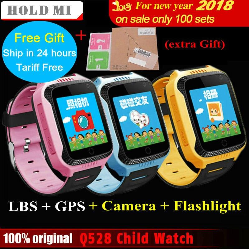 2017 Nouveaux Attente Mi Q528 Y21 Écran Tactile Enfants Montre GPS avec caméra Éclairage Smart Watch Sommeil Moniteur GPS SOS Bébé Montre PK Q60