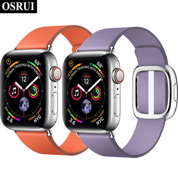 42mm 38mm modern buckle for apple watch band correa 44mm 40mm iwatch Strap 4 3 2 1 leather bracelet apple watch Accessories modern buckle strap for apple watch band 38mm 40mm 42mm 44mm bracelet genuine leather weave watchband for iwatch 4 3 2 1 belt