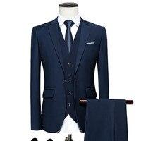 men's business casual suits sets / Men three piece suit three separate set / male vest+Blazers+pants PLUS SIZE 6XL suit coat