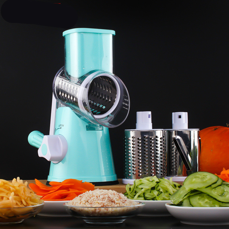 LTZFTL Vegetable Mandoline Slicer Potato Julienne Carrot Cutter knife Cheese Grater Round Stainless Steel Blades Kitchen Tool blomus 63565 cheese grater
