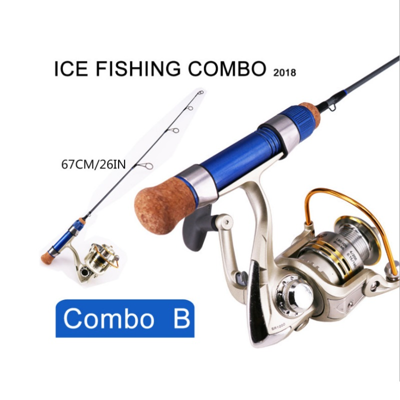 2018 new ice fishing combo rod and reel three kinds of for Ice fishing rod and reel combo