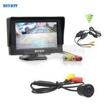 DIYKIT 4.3 polegadas a Cores TFT LCD Monitor Do Carro Sem Fio com Sistema de Estacionamento Da Câmera Do Carro HD Rear View camera Reversa Backup