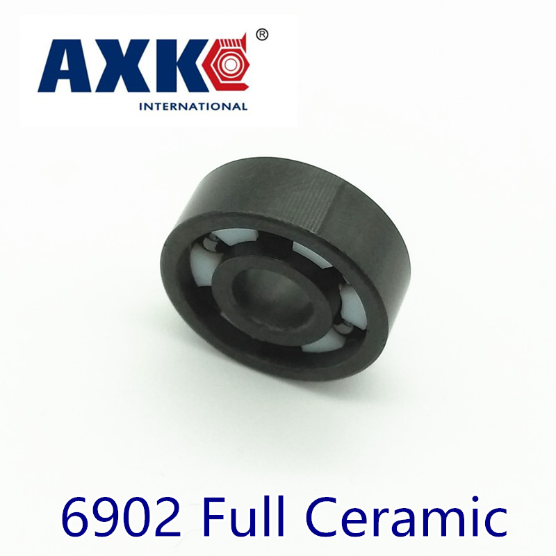Axk 6902 Full Ceramic Bearing ( 1 Pc ) 15*28*7 Mm Si3n4 Material 6902ce All Silicon Nitride Ceramic 6902 Ball BearingsAxk 6902 Full Ceramic Bearing ( 1 Pc ) 15*28*7 Mm Si3n4 Material 6902ce All Silicon Nitride Ceramic 6902 Ball Bearings
