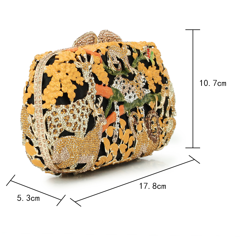 animal prints tree golden color bling crystal clutch ladies evening bags  purse (8680A G)-in Top-Handle Bags from Luggage   Bags on Aliexpress.com  a70884dbb3a1