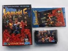 Md 게임: bare knuckle (일본 버전!! 상자 + 수동 + 카트리지!!)