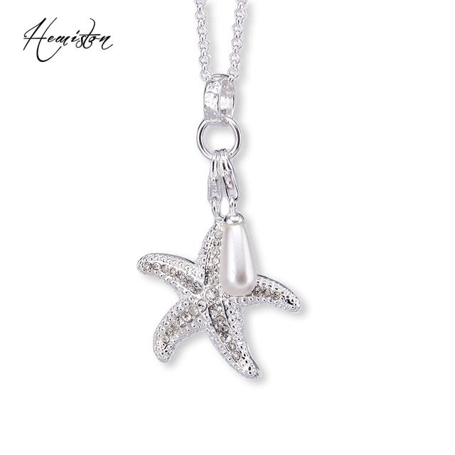 Thomas Starfish & Pearl Collar Del Encanto, TS-Collar Bijoux Regalo de La Joyería Para Las Mujeres y Los Hombres TS-N17