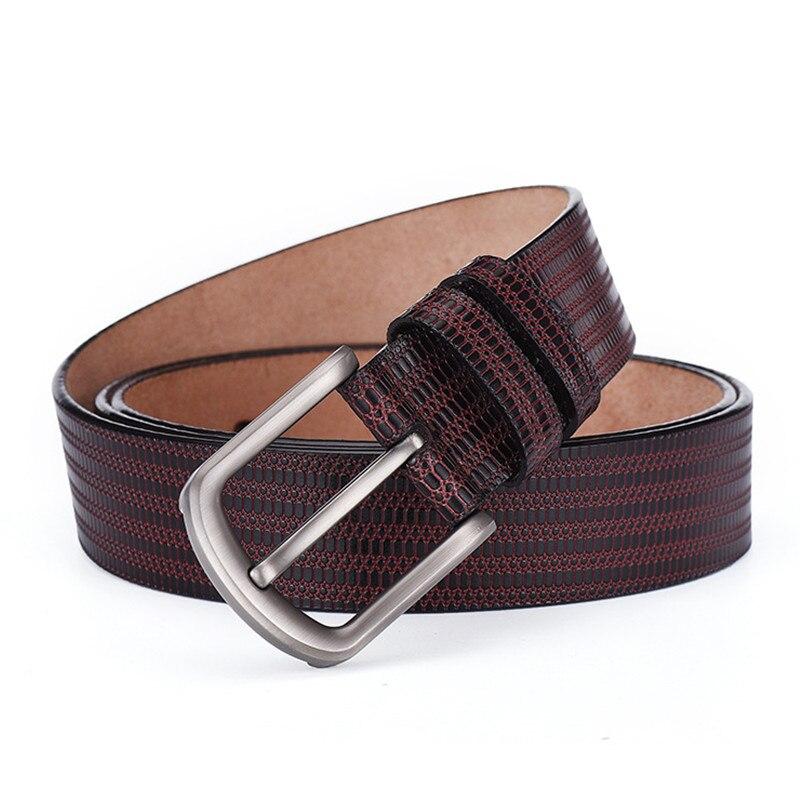 Men's Belts El Barco Cowhide Leather Belt Men Black Brown Luxury Brand Designer Male Belts Navy Blue Coffee Business Casual Waist Strap