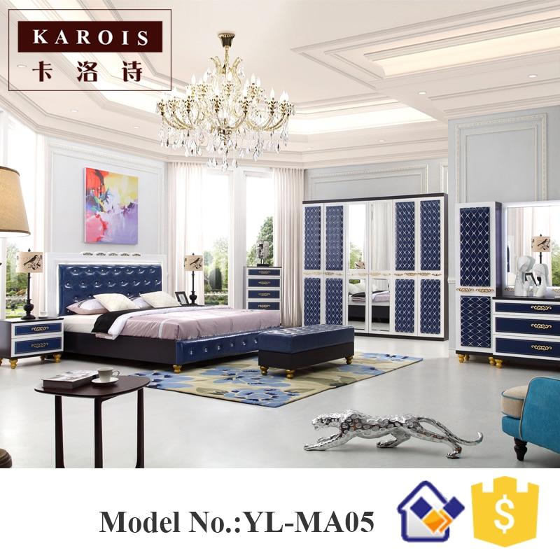 Bed Room Set Modern Double Color Wardrobe Design Bedroom