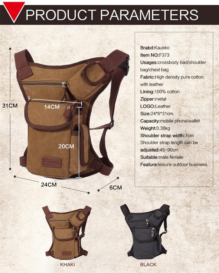Trgovina na debelo moške pasu torbice vintage platnene - Torbice - Fotografija 5