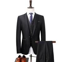 Куртка + брюки + жилет/костюмы для выпускного Black High end профессиональная одежда для торжеств костюм 2018 новые Нарядные Костюмы для свадьбы для