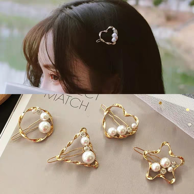 1 PC New Fashion Women Girls Pearl Hairpins Girls Star Heart Hair Clip Delicate Hair Pin Hair Decorations Jewelry Accessories in Women 39 s Hair Accessories from Apparel Accessories
