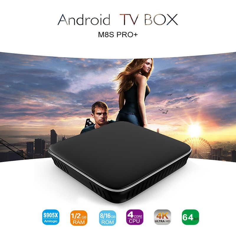 Mecool TV Box M8s Pro + Android 7.1 TVBOX 2G DDR3 16G ROM 2.4G WIFI MediaPlayer USB blutooth Điều Khiển Bằng Giọng Nói Thông Minh Nhà Set Top Box
