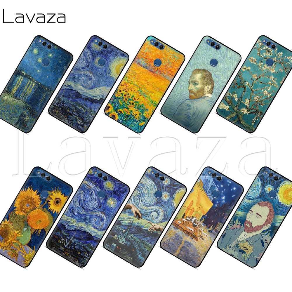 Lavaza Thin Van Gogh Starry Night Case for Huawei P8 P9 P10 P20 P30 Y6 Y7 Y9 Lite Pro P Smart Nova 2i 3i Mini 2017 2018