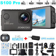 """Add GPS module Extremely HD 4K Motion Digital camera SOOCOO S100 Professional HD 2.zero""""LCD Contact Display Voice Management Excessive Sports activities diving Digital camera DVR"""