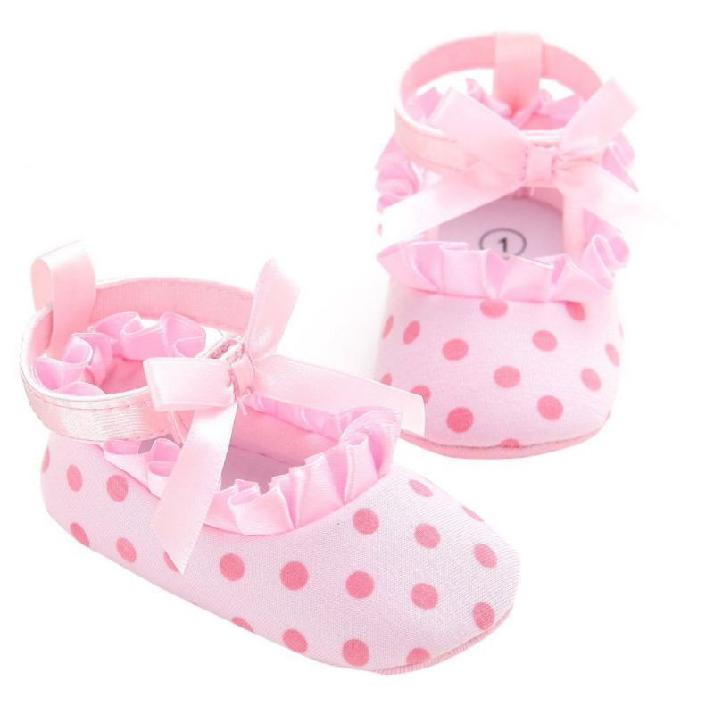 Baby Girls Cotton Lace Shoes Infant Soft Sole Shoes Baby First Walker Toddler Shoes For 0-18M Baby Moccasins Shoes