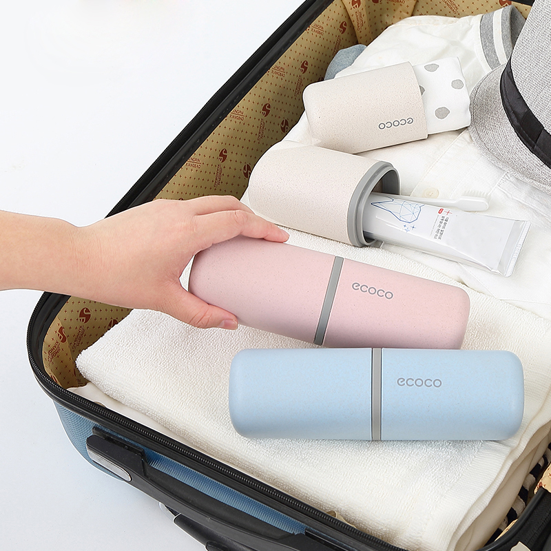 Portable Travel Toothbrush Toothpaste Holder Plastic Double Washing Cup High Capacity For Towel 2019 New Travel Storage Box Case image