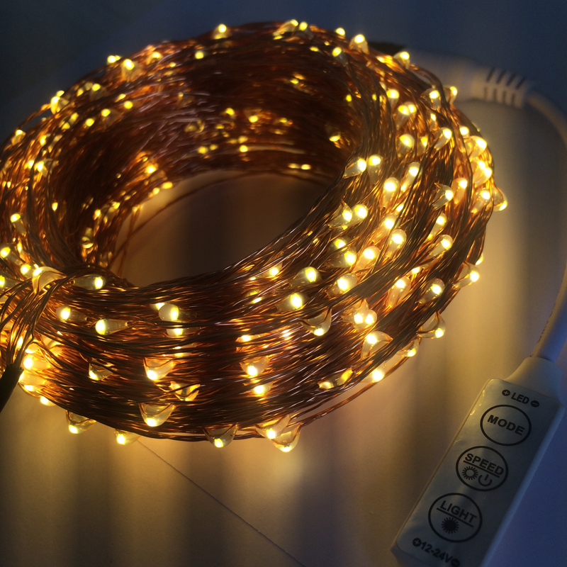 remote dimmer 50m 500 led lights copper wire string light outdoor fairy lamp for garden wedding - Christmas Light Dimmer