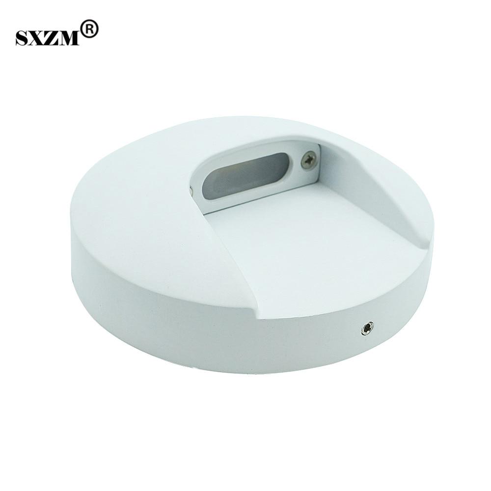 SXZM Impermeabile Applique Da Parete led AC220V Esterno 2 W Rotondo moderno Bianco corpo in alluminio lampione da giardino a risparmio energetico