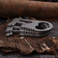 Stainless Steel Outdoor EDC Portable Gadgets, Multi-Purpose Self-Defense Tools, Screwdrivers, Wrenches, Opener Free shipping цена
