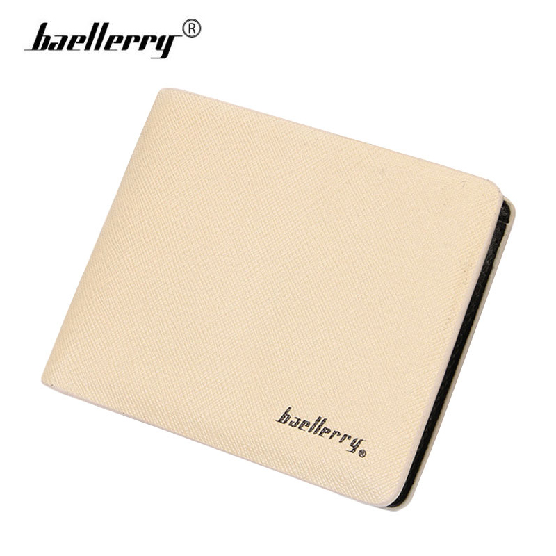 Men Wallets PU Leather Credit Card Slots Photo Holder Mens Casual Slim Pocket Short Purses Male Compact Money Wallet Purse Beige bovis 5102 02 casual man s pu credit name card wallet slots coffee