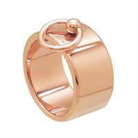 IP Rose Gold Coated 316L Surgical Stainless Steel Fashion Jewelry Fingers Ring For Woman