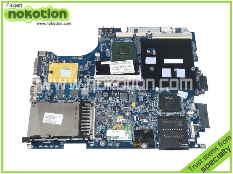 все цены на  Laptop Motherboard for HP NX9000 NW9000 NX9440 409943-001 Intel 945PM chipest with graphics slot DDR2 Mainboard Full Tested  онлайн