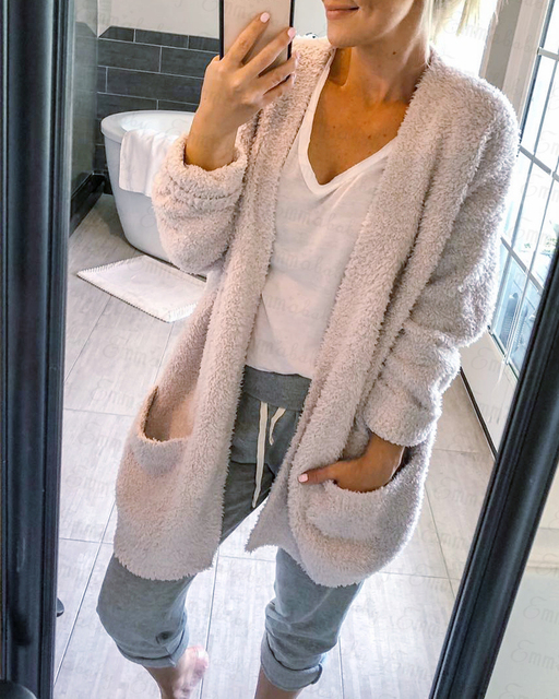 9ad1e8400 Autumn Winter Baggy Cardigan Sweater Women Coat Long Chunky Knitted  Oversized Sweaters Cardigans Femme ...
