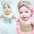 Vestido de bebê vestido da menina 2016 Verão Cabeça Casamento Pageant Vestido Da Menina Flor Do Laço vestido bebe