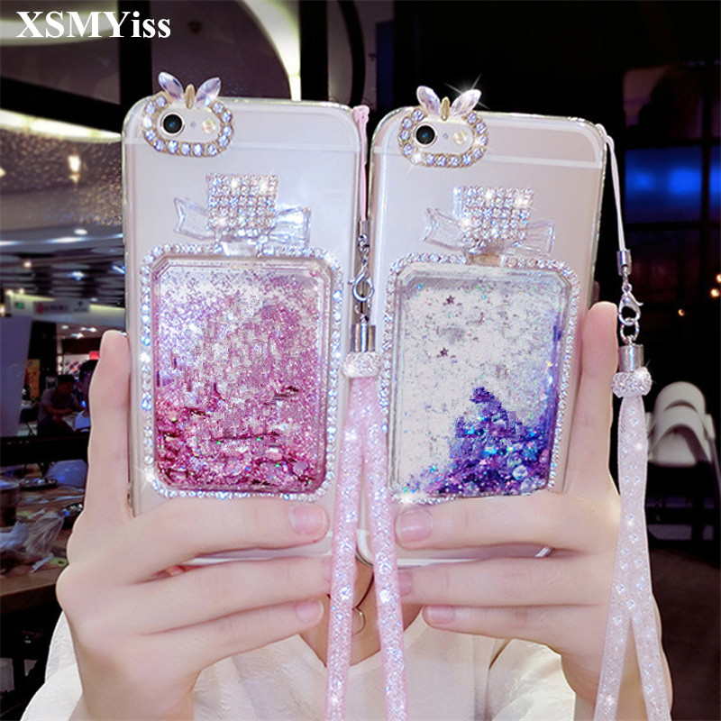 Provided Xsmyiss For Iphone 5 5s Se 5c 6 7 8 6plus 7/8plus Girls Rhinestone Diamond Bling Liquid Sand Quicksand Soft Phone Case Phone Bags & Cases