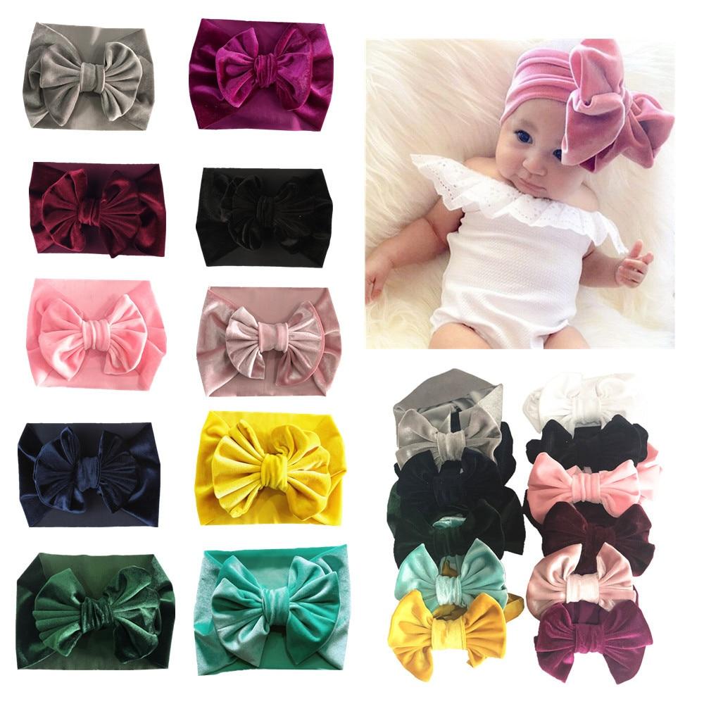 Newborns Toddler Baby Girls Kids Hair Bows 20 pcs Candy Color Headband Headwear