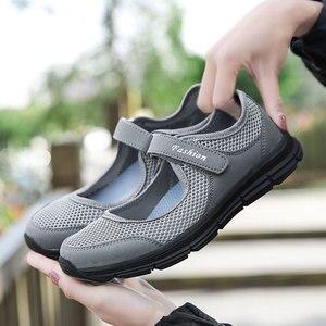 Image 5 - MWY zapatos informales para mujer, zapatillas planas, transpirables de malla, ligeras, diseñador de marca, para primavera y verano