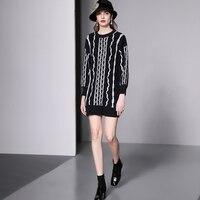 Women Dress Sale Straight Full Zanzea 2018 Winter New Women's Knit Dress Wool Blended Stitch Matching Wild Slim Female Sweater