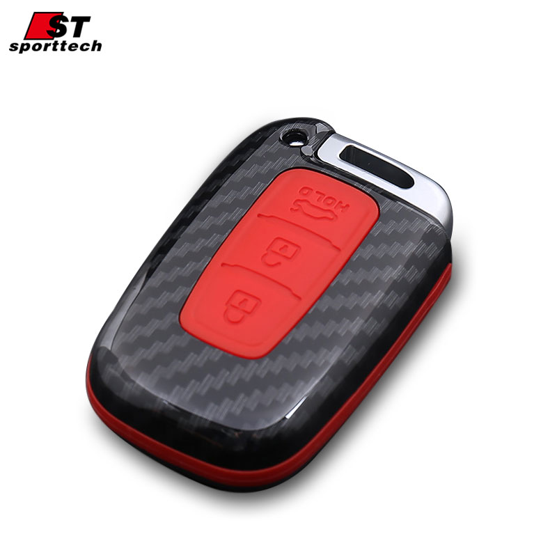 Car Styling Keychain For KIA Stig Gentry/Coruscate/Niro/K2/3/4/5 KX3/5/7 For Hyundai Verna Key Ring Chain Key Case Cover Holder