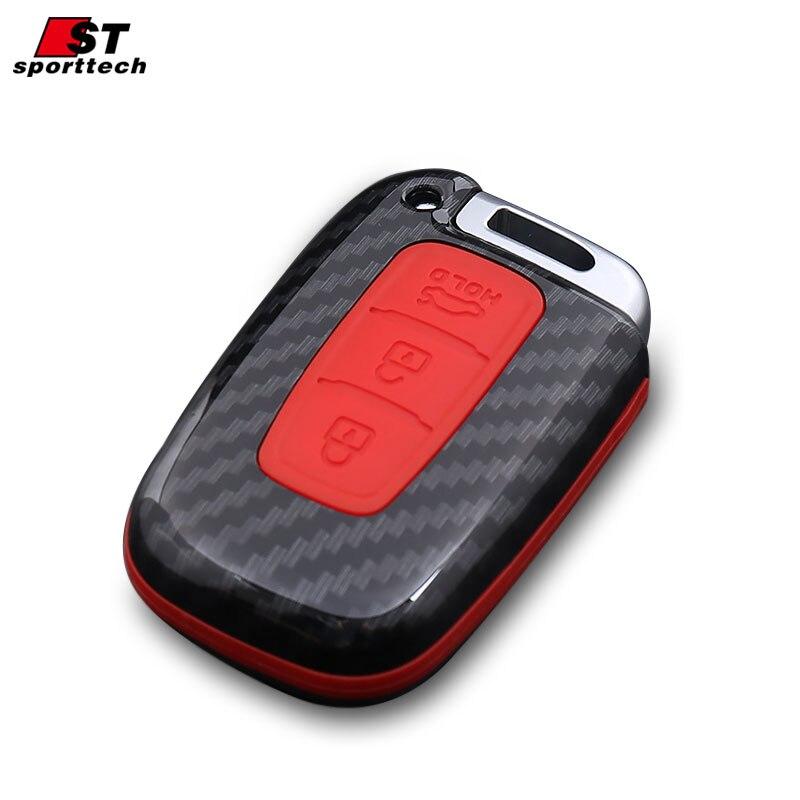 Car Styling Keychain For KIA Stig Gentry/Coruscate/Niro/K2/3/4/5 KX3/5/7 For Hyundai Verna Key Ring Chain Key Case Cover Holder
