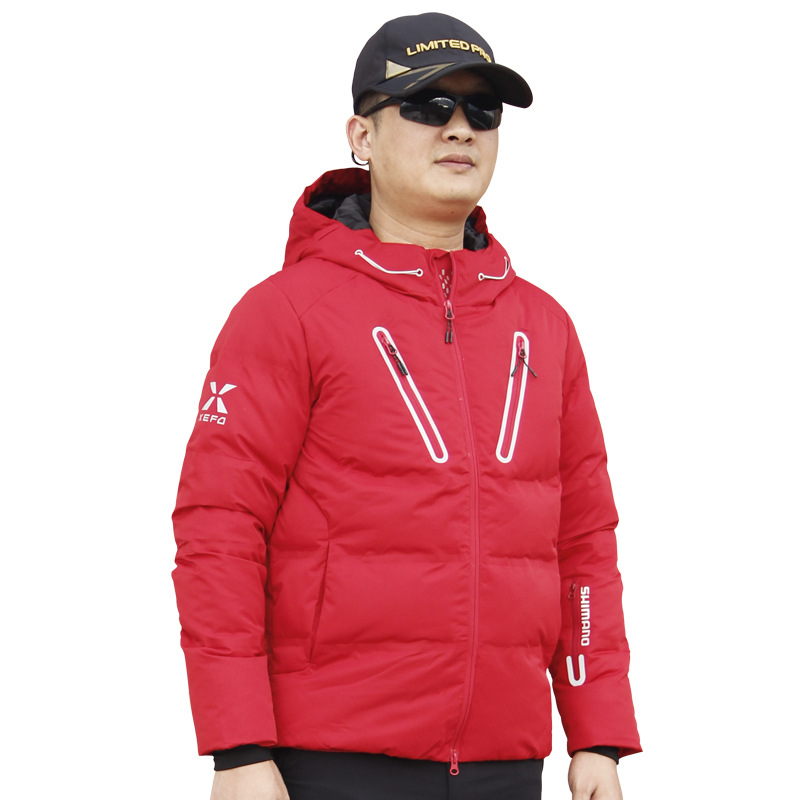 2018 NEW SHIMANO Fishing clothes Autumn And Winter Keep warm down jacke coat White duck down light Hooded SHIMANOS Free shipping free shipping 2016 autumn and winter explosion models men korean version of slim long warm hooded coat