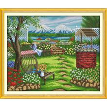 Everlasting love The beautiful house Chinese cross stitch kits Ecological cotton 11CT stamped Christmas DIY decorations for home