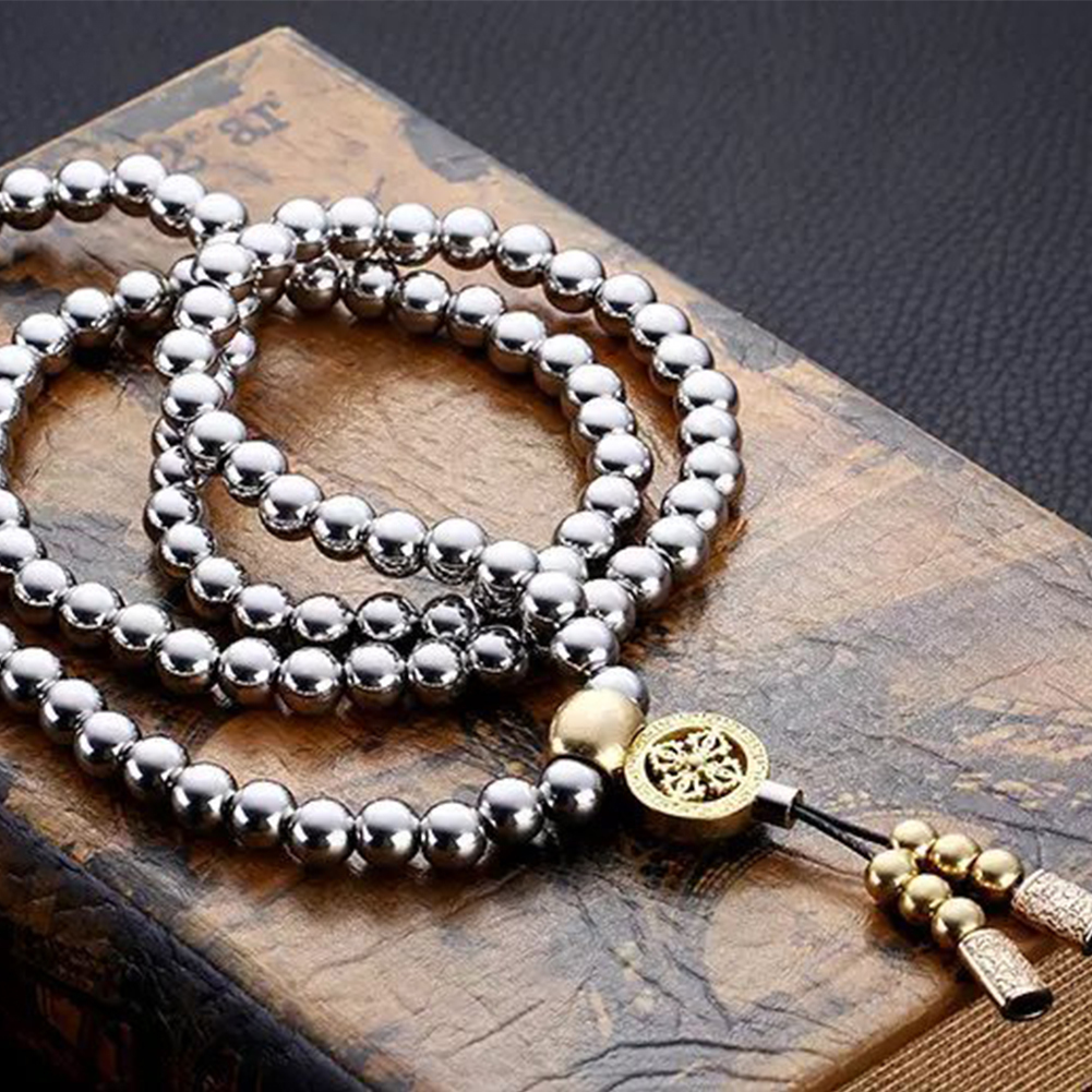 Image result for Self Defence Metal Buddha Bead Necklace Whip