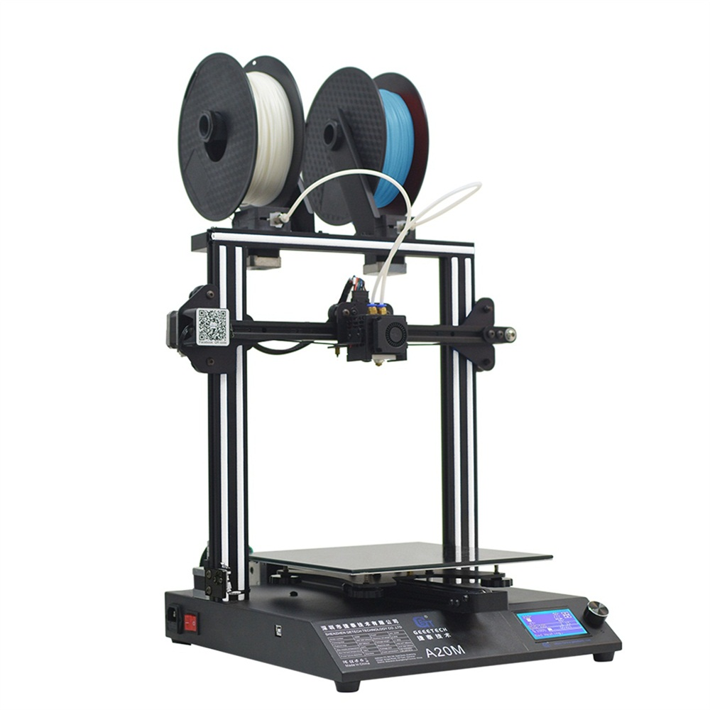 Geeetech A20M Mix-color Fast Assembly 3D Printer with Filament Fetector and Break-Resuming Capability 255*255*255 Print Volume 255 11