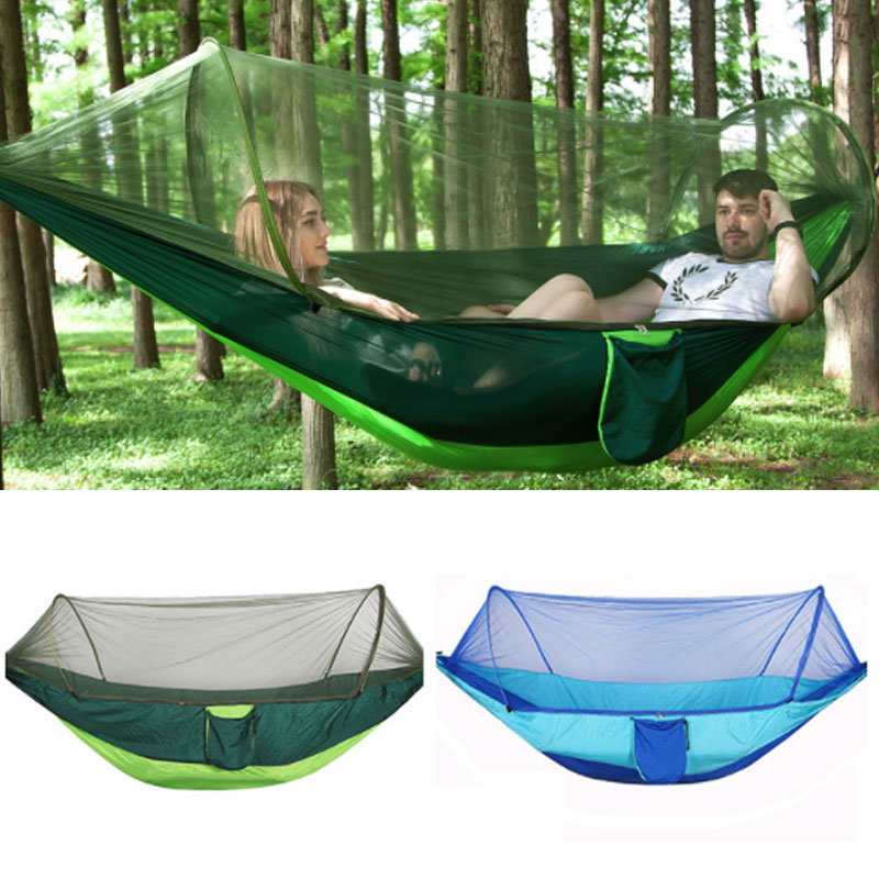 Outdoor Mosquito Net Hammock Parachute Tent Portable Garden Camping Hanging Sleeping Bed High Strength Sleeping Swing 250x120cmOutdoor Mosquito Net Hammock Parachute Tent Portable Garden Camping Hanging Sleeping Bed High Strength Sleeping Swing 250x120cm