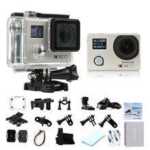 Sf88 deportes cámara novatek 96660 wifi cámaras de acción, giroscopio estabilización de imagen, de doble pantalla 4 k cámara deportiva para xiaomi yi