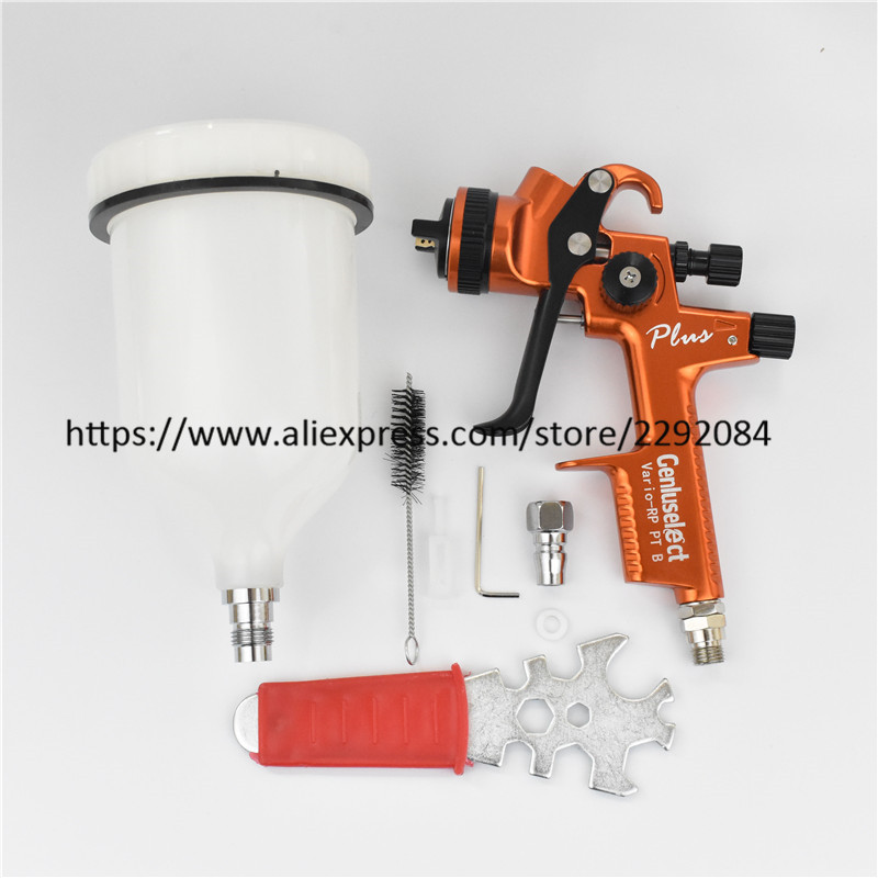 PGK B PLUS Professional Spray Gun Car Paint Gun 600cc tank Gravity spray gun with 1