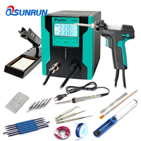 Qsunrun New Release Pro'sKit SS-331H ESD LCD Digital Electric Desoldering Pump BGA Desoldering Suction Vacuum Solder Sucker Gun